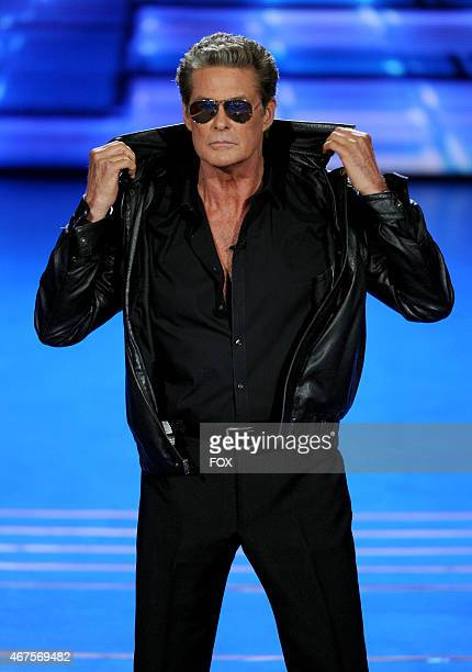 David Hasselhoff performs onstage at FOX's 'American Idol XIV' Top 9 Revealed on March 25 2015 in Hollywood California