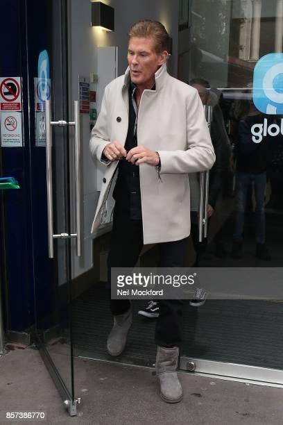 David Hasselhoff seen at Global Radio Studios on October 4 2017 in London England