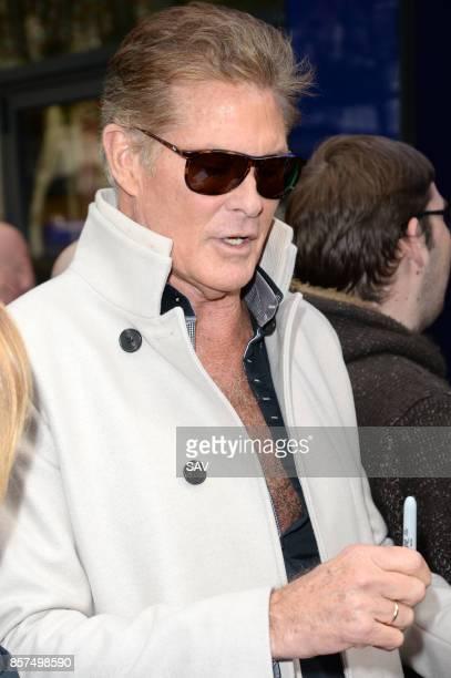 David Hasselhoff sighting on October 4 2017 in London England