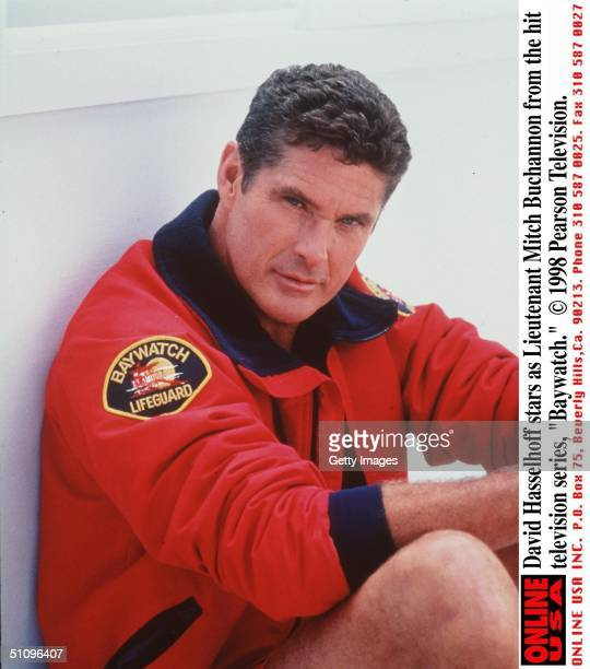 David Hasselhoff Stars As Lieutenant Mitch Buchannon From The Hit Television Series 'Baywatch' 19981999 Season