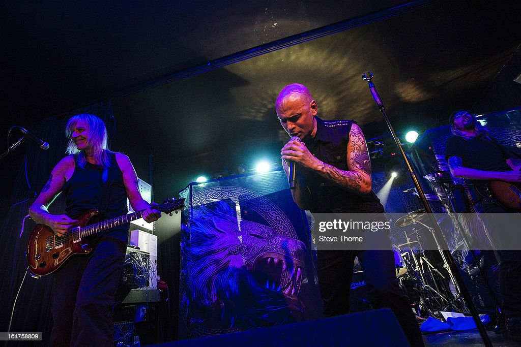 David Hawkins and Richard Taylor of British Lion perform on stage on March 27, 2013 in Birmingham, England.
