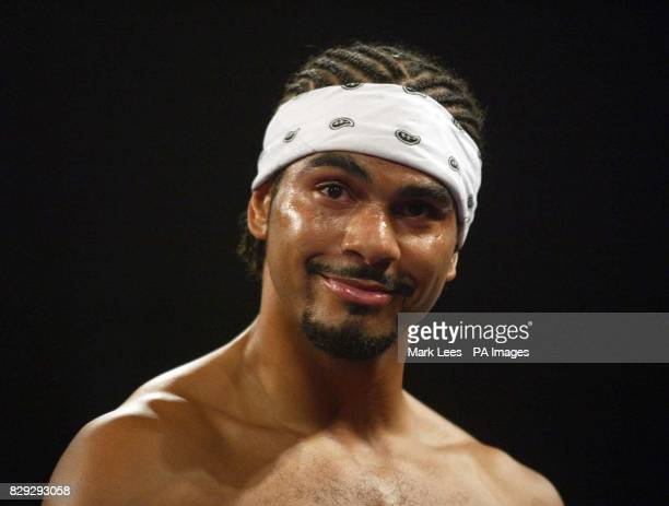 David Haye ahead of his fight with Carl Thompson at Wembley Arena for the IBO Cruiserweight Championship of the World