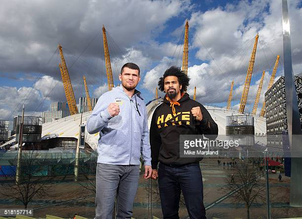 David Haye and Arnold Gjergjaj attend photocall for the announcement that the former twoweight world champion David Haye will face the undefeated...