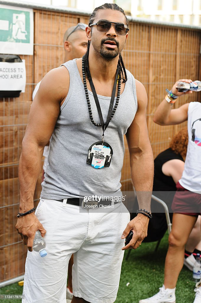 <a gi-track='captionPersonalityLinkClicked' href=/galleries/search?phrase=David+Haye&family=editorial&specificpeople=220778 ng-click='$event.stopPropagation()'>David Haye</a> attends day 2 of the Yahoo! Wireless Festival at Queen Elizabeth Olympic Park on July 13, 2013 in London, England.