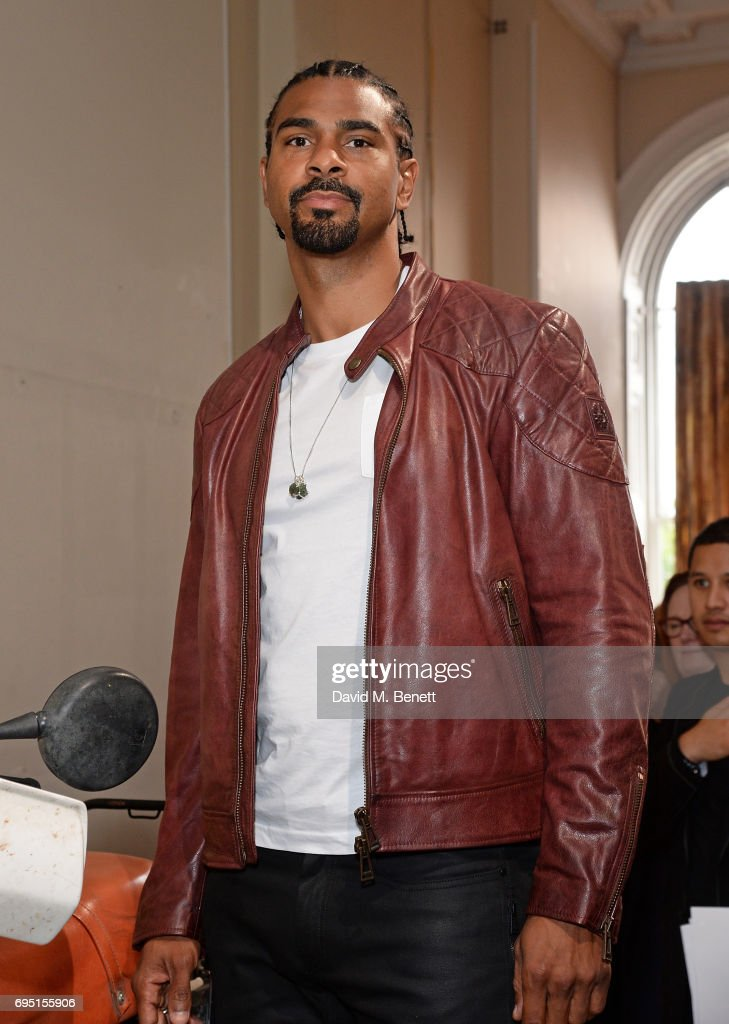 David Haye attends the Belstaff Presentation during the London Fashion Week Men's June 2017 collections on June 12, 2017 in London, England.