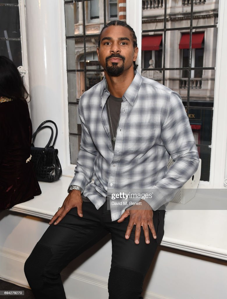 David Haye attends the dunhill London presentation during the London Fashion Week Men's June 2017 collections on June 9, 2017 in London, England.
