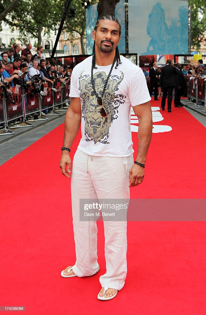 David Haye attends the European Premiere of 'Red 2' at the Empire Leicester Square on July 22, 2013 in London, England.