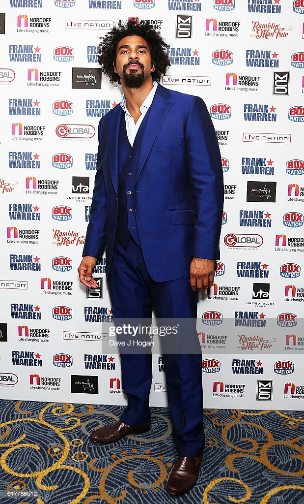 David Haye attends the Nordoff Robbins Boxing Dinner at the London Hilton Park Lane on October 24, 2016 in London, England.