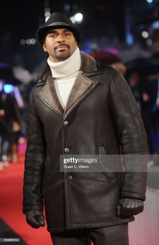 David Haye attends the UK Premiere of G.I. Joe: Retaliation at Empire Leicester Square on March 18, 2013 in London, England.