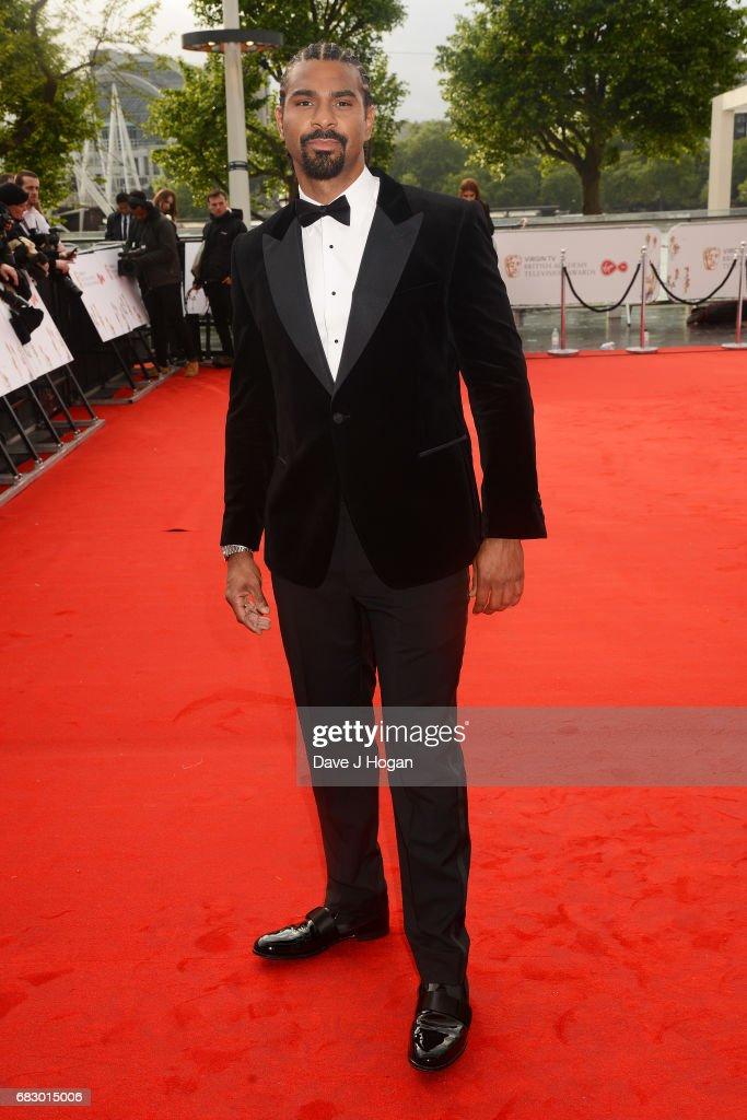 David Haye attends the Virgin TV BAFTA Television Awards at The Royal Festival Hall on May 14, 2017 in London, England.