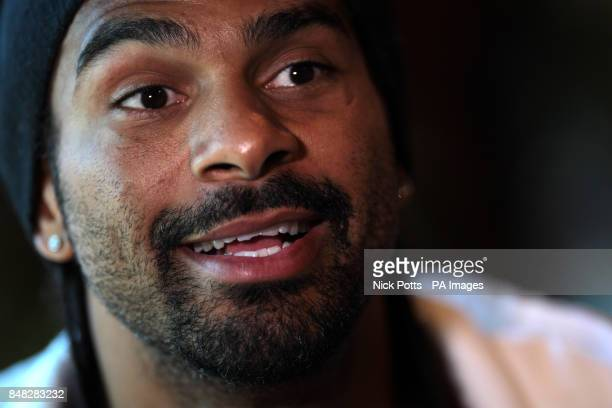 David Haye during the Head to Head at the Gilgamesh Restaurant Bar and Lounge London