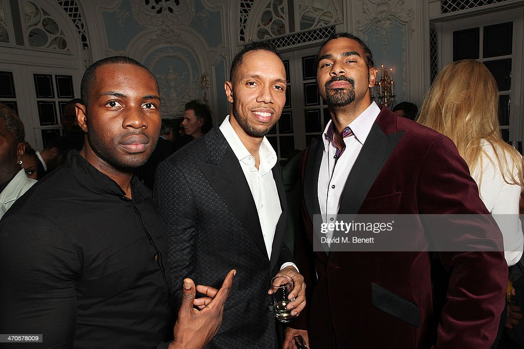 <a gi-track='captionPersonalityLinkClicked' href=/galleries/search?phrase=David+Haye&family=editorial&specificpeople=220778 ng-click='$event.stopPropagation()'>David Haye</a> (L) is seen at Warner & Belvedere Post BRIT Awards party at The Savoy Hotel on February 19, 2014 in London, England.