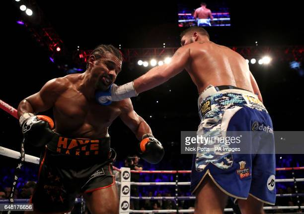 David Haye takes on Tony Bellew in the heavyweight contest at The O2 PRESS ASSOCIATION Photo Picture date Saturday March 4 2017 See PA story BOXING...