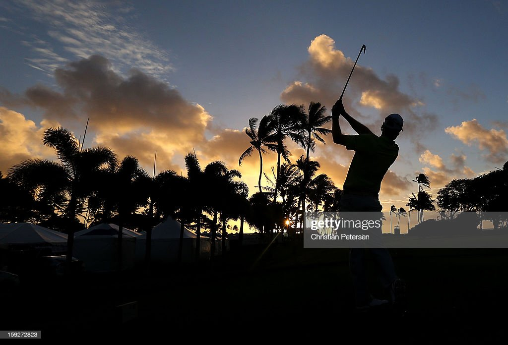 David Hearn of Canada hits a tee shot on the 11th hole during the first round of the Sony Open in Hawaii at Waialae Country Club on January 10, 2013 in Honolulu, Hawaii.