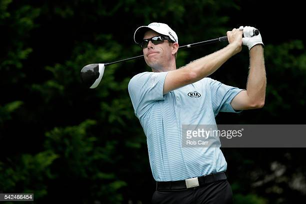 David Hearn of Canada plays a shot from the fifth tee during the first round of the Quicken Loans National at Congressional Country Club on June 23...