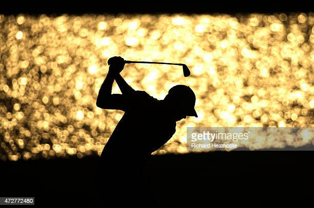 David Hearn of Canada plays a shot on the 18th hole during round three of THE PLAYERS Championship at the TPC Sawgrass Stadium course on May 9 2015...