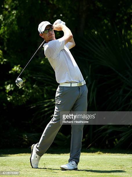 David Hearn of Canada plays his shot from the fifth tee during the final round of THE PLAYERS Championship at the TPC Sawgrass Stadium course on May...