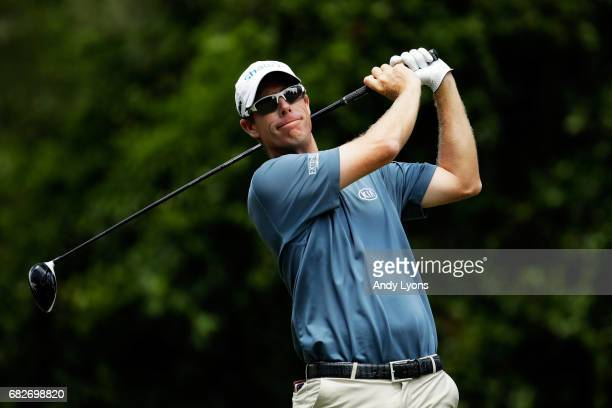 David Hearn of Canada plays his shot from the second tee during the third round of THE PLAYERS Championship at the Stadium course at TPC Sawgrass on...