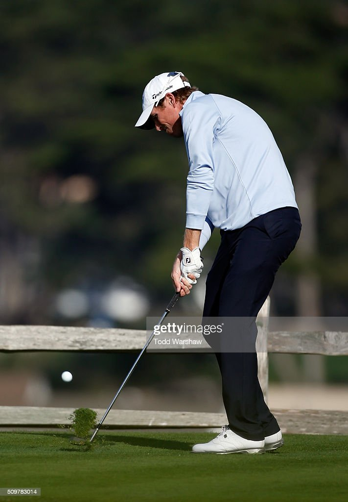 <a gi-track='captionPersonalityLinkClicked' href=/galleries/search?phrase=David+Hearn+-+Golf&family=editorial&specificpeople=10992491 ng-click='$event.stopPropagation()'>David Hearn</a> of Canada plays his tee shot on the seventh hole during the second round of the AT&T Pebble Beach National Pro-Am at the Pebble Beach Golf Links on February 12, 2016 in Pebble Beach, California.