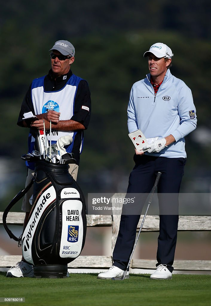 <a gi-track='captionPersonalityLinkClicked' href=/galleries/search?phrase=David+Hearn+-+Golf&family=editorial&specificpeople=10992491 ng-click='$event.stopPropagation()'>David Hearn</a> of Canada prepares to play his tee shot on the seventh hole during the second round of the AT&T Pebble Beach National Pro-Am at the Pebble Beach Golf Links on February 12, 2016 in Pebble Beach, California.