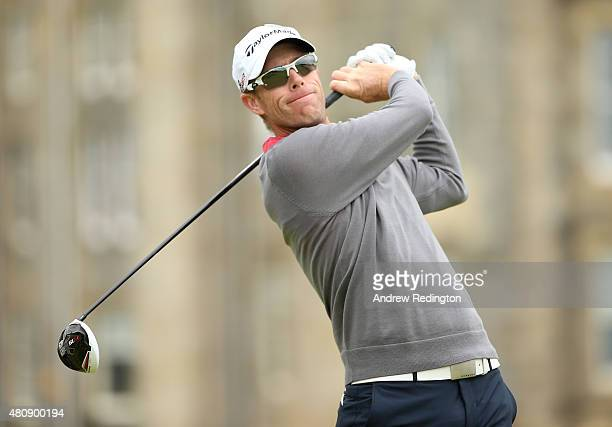 David Hearn of Canada tees off on the 2nd hole during the first round of the 144th Open Championship at The Old Course on July 16 2015 in St Andrews...