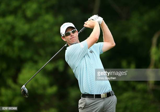 David Hearn of Canada tees off on the sixth hole during the second round of the Zurich Classic of New Orleans at TPC Louisiana on April 29 2016 in...
