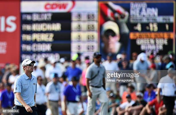 David Hearn of Canada walks to the 18th green during round three of the RBC Canadian Open at Glen Abbey Golf Club on July 25 2015 in Oakville Canada