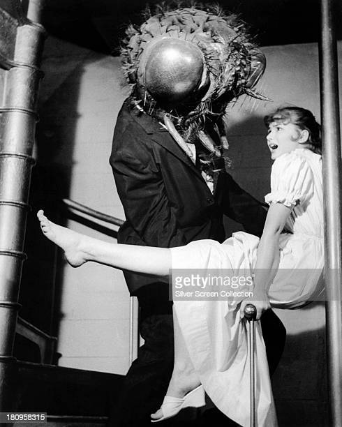 David Hedison as scientist and human fly Andre Delambre and Patricia Owens as Helene Delambre in 'The Fly' directed by Kurt Neumann 1958