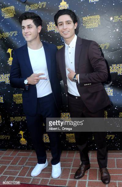 David Henrie and Lorenzo James Henrie attend the 43rd Annual Saturn Awards at The Castaway on June 28 2017 in Burbank California