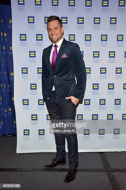 David Hernandez attends the 2015 Human Rights Campaign Greater New York Gala Dinner at The Waldorf=Astoria on January 31 2015 in New York City