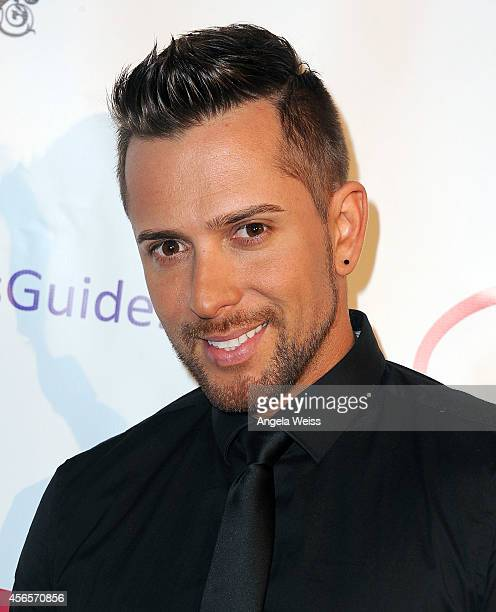 David Hernandez attends the Marriage Equality USA launch of The Gay Groom's Guide Book at The Abbey on October 2 2014 in West Hollywood California
