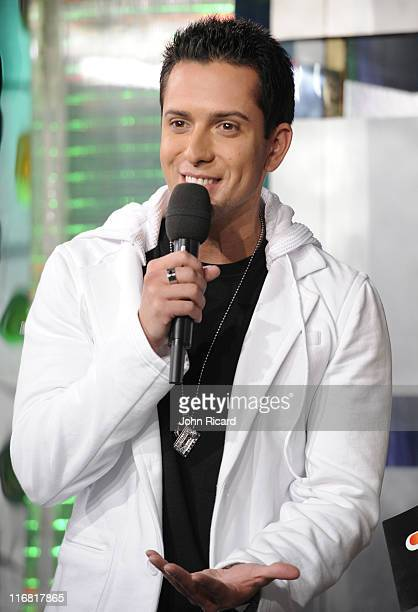 David Hernandez of American Idol visits TRL at MTV Studios in Times Square on March 17 2008 in New York City