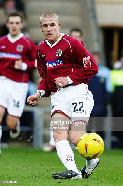 David Hicks of Northampton Town in action during the Coca Cola League Two match between Oxford United and Northampton Town held at the Kassam Stadium...
