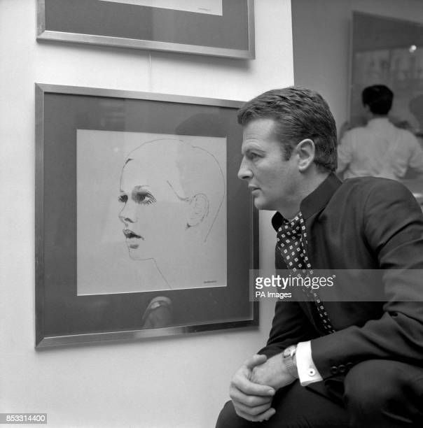 David Hicks the interior decorator and soninlaw of Earl Mountbatten of Burma at the opening of his weeklong exhibition of Portrait Drawings and...