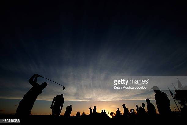 David Higgins of Ireland hits a practice shot on the driving range prior to day two of the NH Collection Open held at La Reserva de Sotogrande Club...