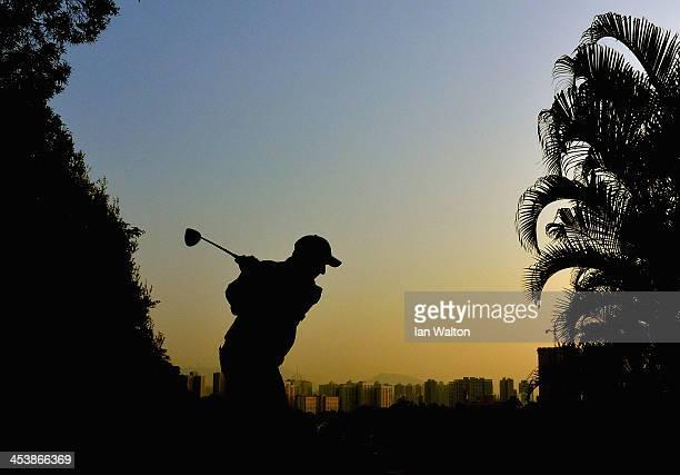 David Higgins of Ireland plays a shot during round two of the 2013 Hong Kong Open at The Hong Kong Golf Club on December 6 2013 in Hong Kong Hong Kong