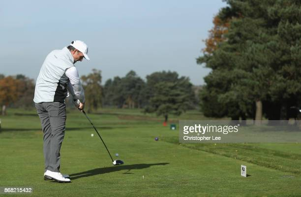 David Higgins of Waterville Golf Links in action during Day 1 of the PGA PlayOffs at Walton Heath Golf Club on October 30 2017 in Tadworth England