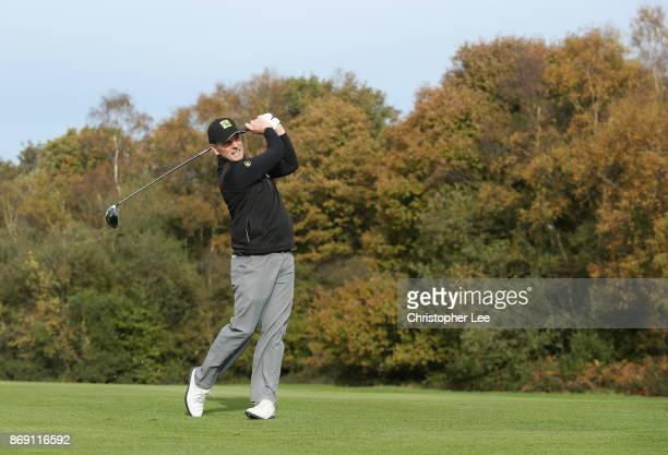 David Higgins of Waterville Golf Links in action during Day 3 of the PGA PlayOffs at Walton Heath Golf Club on November 1 2017 in Tadworth England