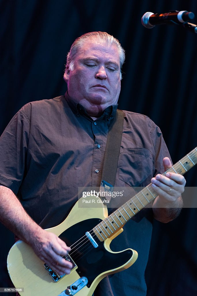 David Hildago of Los Lobos performs on stage at the Beale Street Music Festival on April 30, 2016 in Memphis, Tennessee.