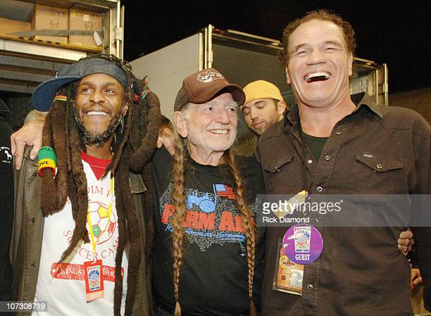 David Hinds of Steel Pulse Willie Nelson and Randall 'Tex' Cobb
