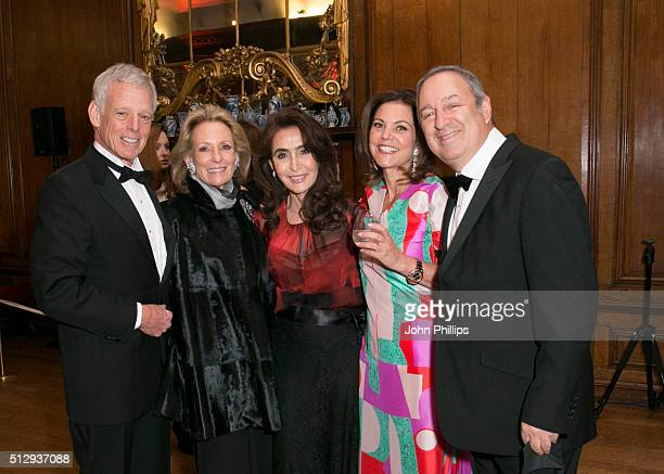 David Hirsch Rochelle Hirsch Denise Esfandi and Marsha Lee attend the British Friends' Of The IPO 80th Anniversary Celebration at Kensington Palace...
