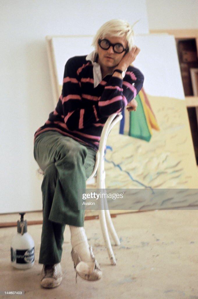 David Hockney photographed in 1971