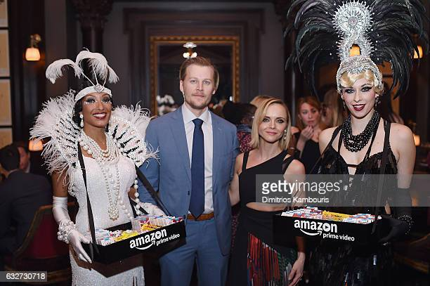 David Hoflin Christina Ricci and cigarette girls attend the premiere event for Amazon Prime Video's Z THE BEGINNING OF EVERYTHING on January 25 2017...