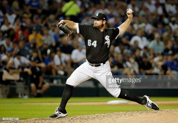 David Holmberg of the Chicago White Sox pitches against the Chicago Cubs during the fifth inning at Guaranteed Rate Field on July 26 2017 in Chicago...