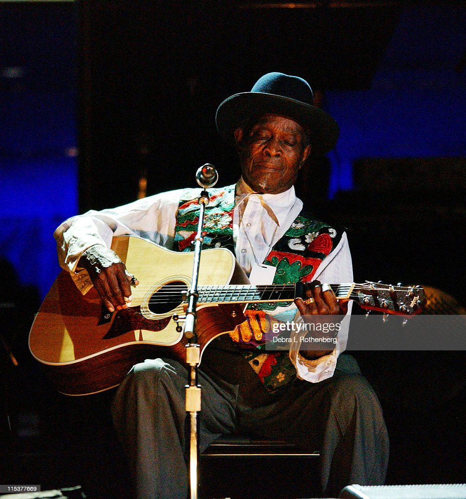 David 'Honeyboy' Edwards during Salute To The Blues Benefit Concert at Radio City Music Hall in New York, NY, United States.