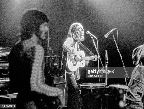 David Hood of Muscle Shoals Rhythm Section The Swampers and Steve Winwood on stage with Traffic at the Palazzo dello Sport in Rome on March 29 1973...