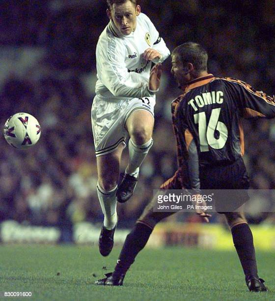 FEATURE David Hopkin the Leeds United Captain passes Ivan Tomic of Roma in their UEFA Cup second round second leg match at Elland Road tonight EDI...