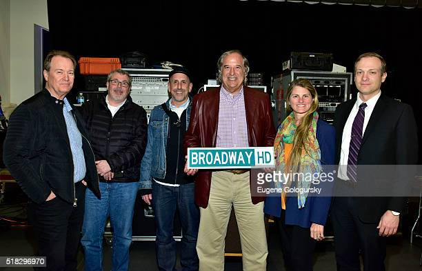 David Horn Mitch Owgang Scott Elliot Stewart F Lane Bonnie Comley and Ben Birney attend the BroadwayHD Live Stream Of Sam Shepard's 'Buried Child' at...