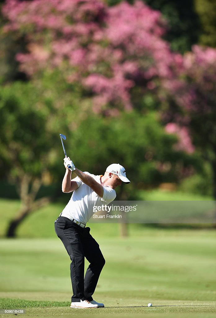 <a gi-track='captionPersonalityLinkClicked' href=/galleries/search?phrase=David+Horsey&family=editorial&specificpeople=776403 ng-click='$event.stopPropagation()'>David Horsey</a> of England plays a shot during the first round of the Tshwane Open at Pretoria Country Club on February 11, 2016 in Pretoria, South Africa.