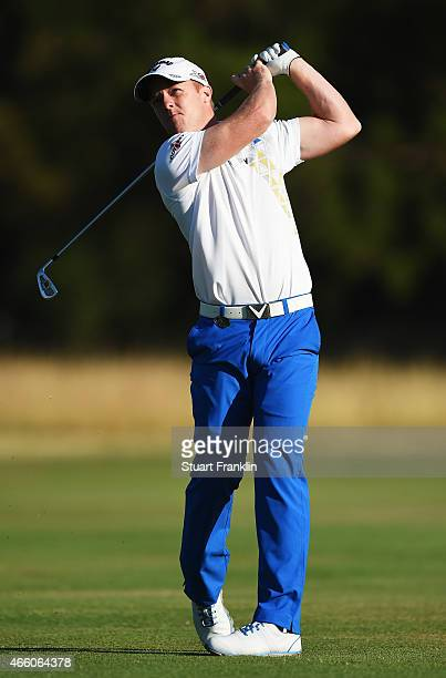 David Horsey of England plays a shot during the second round of the Tshwane Open at Pretoria Country Club on March 13 2015 in Pretoria South Africa